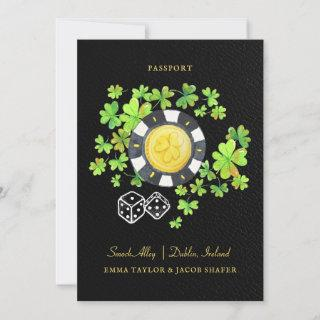 Destination Wedding Passport Save the Date | Irish