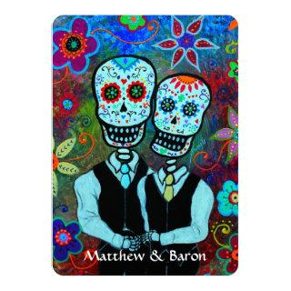 DIA DE LOS MUERTOS NOVIOS COUPLE WEDDING Invitations