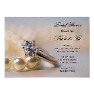 Diamonds and Pearls Bridal Shower Invitation
