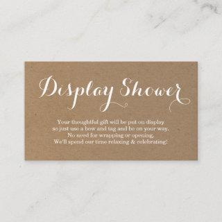 Display Shower Enclosure Card Insert | Rustic