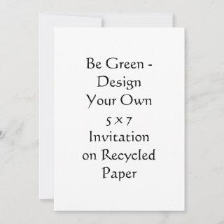 DIY - Design Your Own 5 x 7 Recycled Invitations