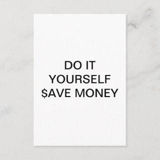DO IT YOURSELF ~  / RSVP 3.5 x5