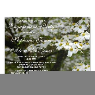 Dogwood Blooms Country Wedding Engagement Party Magnetic Invitation