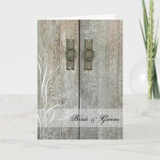 Double Barn Doors Country Wedding Invitations