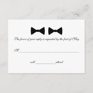 """""""Double Bow Ties"""" RSVP Cards"""