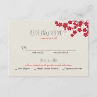 Double Happiness Chinese Wedding Invitation - RSVP