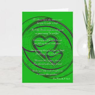 Double Hearts Will You Be My Bridesmaid In Green Invitation