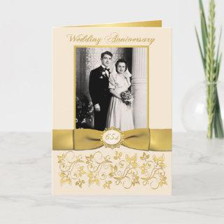 Double Photo 65th Anniversary  Card