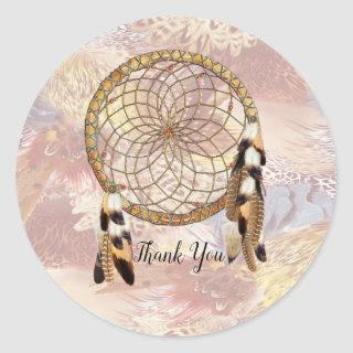 Dream Catcher Stationary Classic Round Sticker