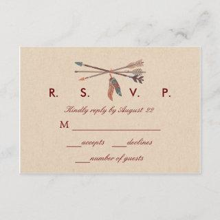 Dream Catcher Wedding RSVP Card