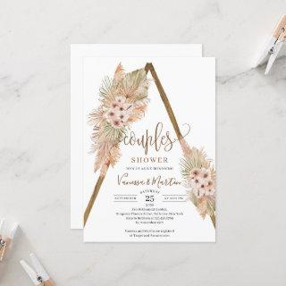 Dried Palm Leaves Pampas Grass Arch Couples Shower Invitation