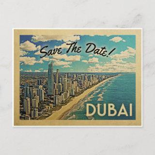 Dubai Save The Date Vintage Postcards