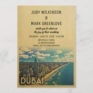 Dubai Wedding Invitation Vintage Mid-Century