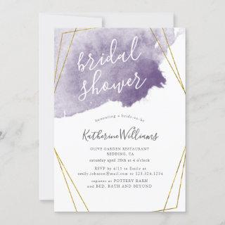 Dusty Gold and Purple ⎥ Bridal Shower Invitation