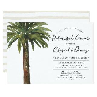 Dusty Palms | Wedding Rehearsal Dinner Invitations