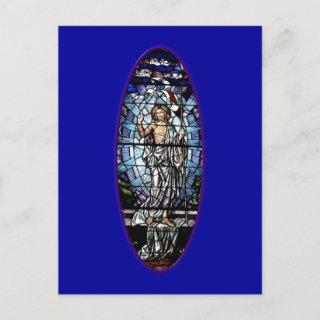 Easter: Resurrection of Christ stained glass Holiday Postcard