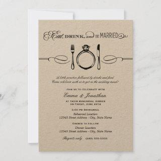 Eat Drink and Be Married Kraft Rehearsal Dinner