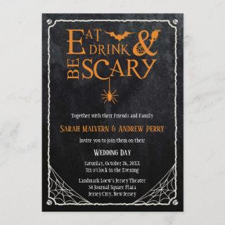 Eat, Drink and Be Scary Halloween Wedding Invite