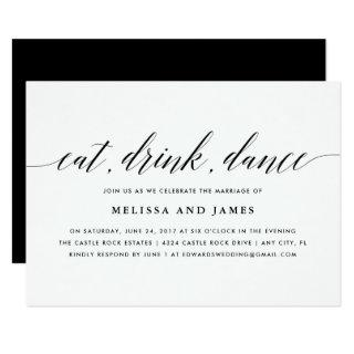 Eat, Drink, Dance Wedding Invitation