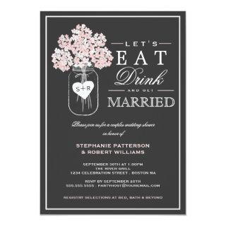 Eat Drink & Get Married Couples Shower Invitations