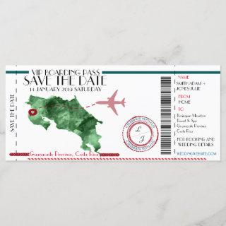 Editable Boarding Pass Save the Date