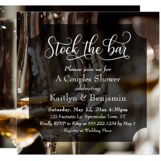 Elaborate Type, Photo Stock the Bar Couples Shower Invitations