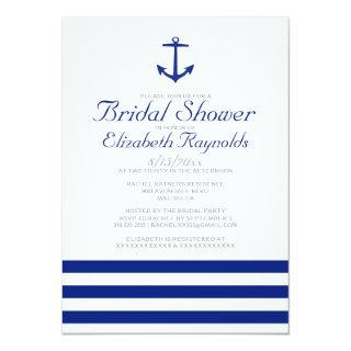 Elegant Anchor Bridal Shower Invitations