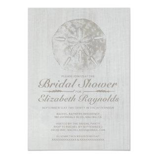 Elegant Beach Sand Dollar Bridal Shower Invitation