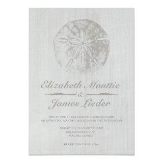 Elegant Beach Sand Dollar Wedding Invitations