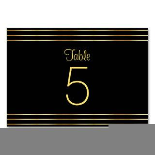 Elegant Black And Gold Glamorous Template Modern Table Number