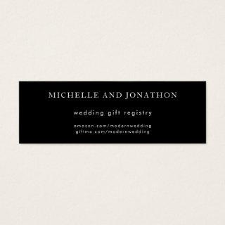 Elegant Black & White Modern Wedding Gift Registry