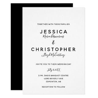 Elegant Black & White Typography Modern Minimalist Invitation