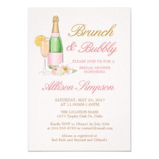 Elegant Brunch and Bubbly Bridal Shower Invitation