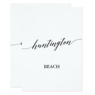 Elegant Calligraphy Huntington Beach Table Number