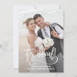 Elegant Calligraphy It's official Wedding Announcement