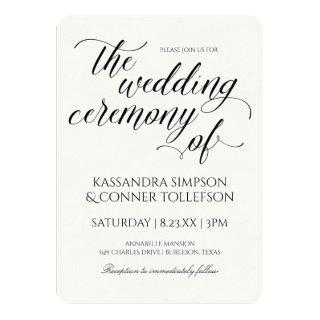 Elegant Calligraphy Wedding Invitations | Black
