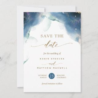 Elegant Celestial Watercolor  Wedding Save The Date