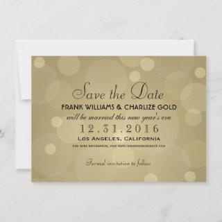 Elegant Champagne Gold and Black Wedding Save The Date