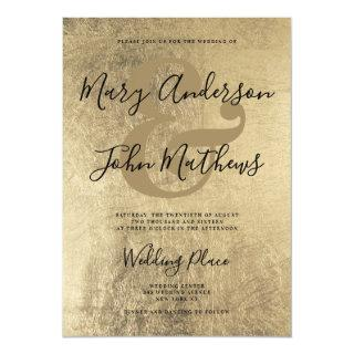 Elegant chic gold calligraphy ampersand wedding Invitations