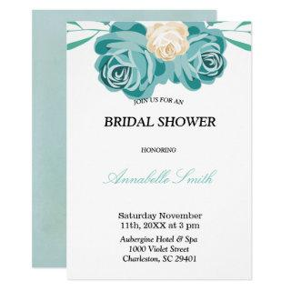 Elegant chic Watercolor blue BRIDAL SHOWER Card