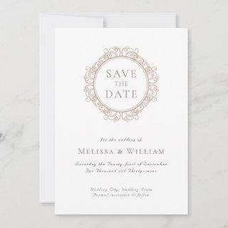 Elegant Classic Ivory Wedding Save The Date