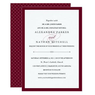 Elegant Couture | Marsala Wedding Invitations