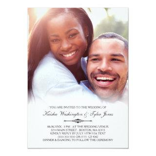 Elegant Custom Photo Wedding Invitations