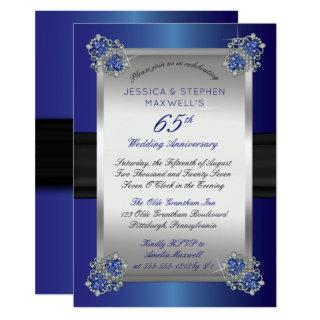 Elegant Diamonds | Blue Spinel 65th Anniversary Invitations