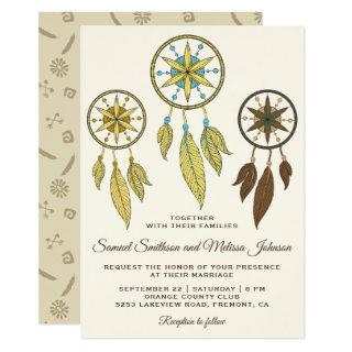 Elegant Dream Catchers Tribal Wedding Invitation
