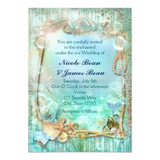 Elegant Enchanted Under The Sea Beach Invitations