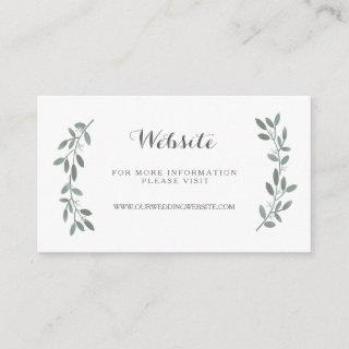 Elegant Eucalyptus Wedding Website Insert Card
