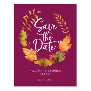 Elegant, Fall Wedding, Simple Save the date card