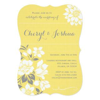 Elegant Floral II-Yellow Invitations