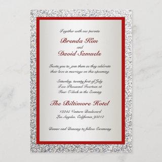 Elegant Glitter Wedding Invitations